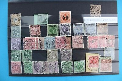 Norddeutscher Postbezirk Lot stamp Briefmarke Michel Mi lot Posten TOP