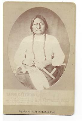 SITTING BULL original 1882 cabinet card, By Bailey, Dix & Mead