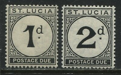 St. Lucia 1933 Postage Dues 1d and 2d mint o.g.