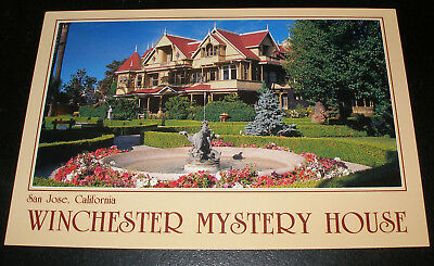 San Jose,Ca. - Winchester Mystery House Retired Postcard - Front Of House