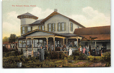 "Pristine ""Volcano House"" German Publ. Postcard - Hawaii Island"
