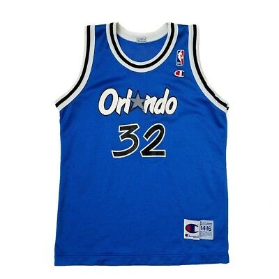 4030a072 Vintage Orlando Magic Shaquille O'Neal Champion Youth Jersey NBA Basketball