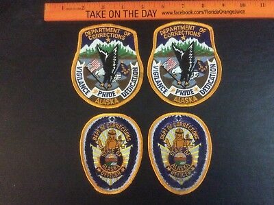 4 patches State of Alaska AK Dept. Department of Corrections DoC Officer - NEW!