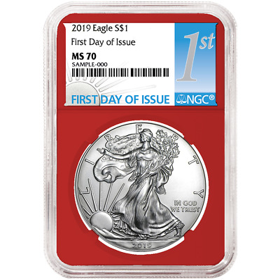 2019 $1 American Silver Eagle NGC MS70 FDI First Label Red Core