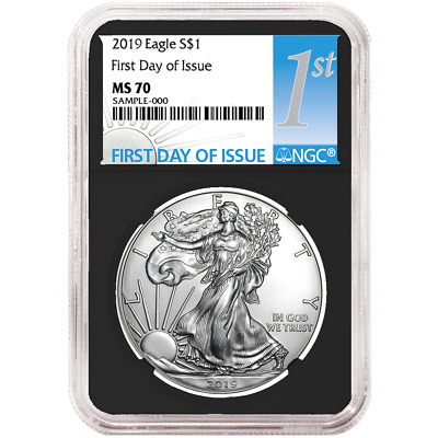 2019 $1 American Silver Eagle NGC MS70 FDI First Label Retro Core