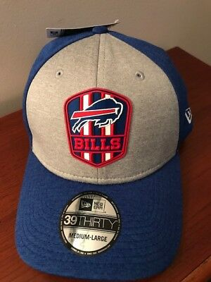 finest selection b581f 1ebd7 NWT Buffalo Bills New Era Gray Blue 2018 NFL Sideline Official M L Gift  Present