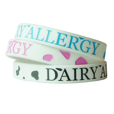 DAIRY ALLERGY MEDICAL wristband silicone bracelet child size AWARENESS ALLERGY