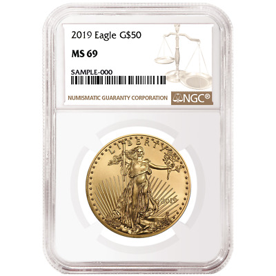 2019 $50 American Gold Eagle 1 oz. NGC MS69 Brown Label