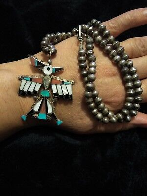 Native American Zuni Turquoise Necklace Corrine Tuliey 26 Inch Jewelry Stunning!