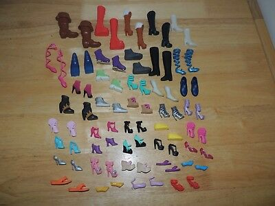 Barbie Doll Shoes Lot Of 40 Pairs Of Assorted Shoes US Seller