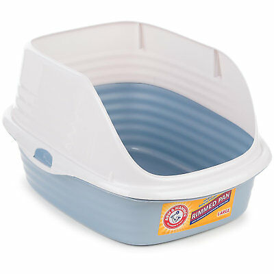 "Arm & Hammer Large Rimmed Litter Pan, 19"" L X 14"" W X 11"" H"