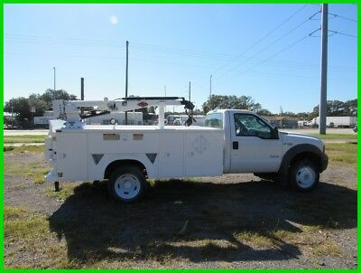 2005 Ford f450 Utility bed with crane and lift gate florida
