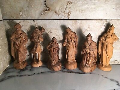 Carved Olive Wood Nativity Set From The Holy Land