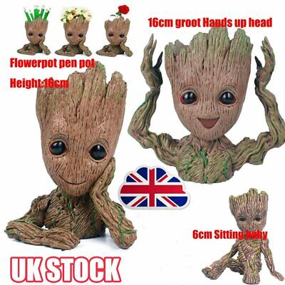Guardians of The Galaxy Baby Groot Figure Flowerpot Pen Pot Toy Decor Kid Gift R