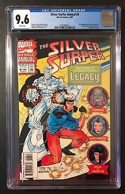 SILVER SURFER Annual #6 1993 CGC 9.6 1ST APP OF LEGACY , THEN CAPTAIN MARVEL