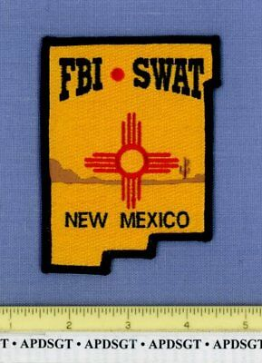 FBI NEW MEXICO Sheriff Federal Police Patch INDIAN ZIA STATE SHAPE CACTUS