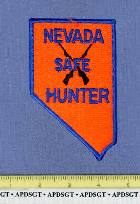NEVADA DNR SAFE HUNTER Police Patch STATE SHAPE DEPT of NATURAL RESOURCES