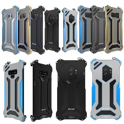 R-JUST Alu Back Case Cover Protector Fr Samsung Galaxy S8 S9 Plus Note 9 Note FE