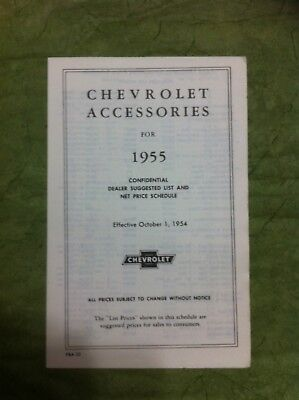 """Reprints Of  """"chevrolet Accessories For 1955-56-57"""