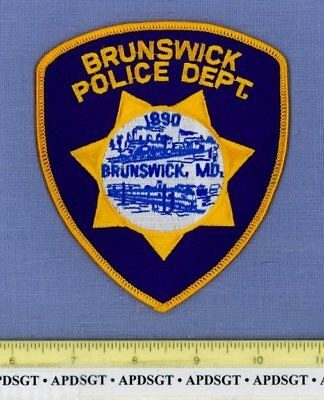 BRUNSWICK MARYLAND Sheriff Police Patch OLD STEAM RAILROAD TRAIN LOCOMOTIVE