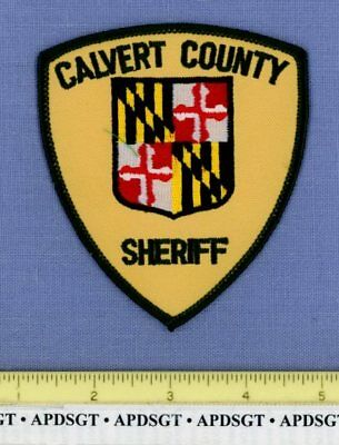 CALVERT COUNTY SHERIFF #1 (Green Yellow) MARYLAND Police Patch HERALDRY