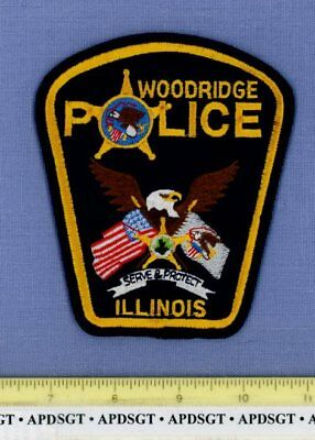 WOODBRIDGE (New) ILLINOIS Sheriff Police Patch EAGLE FLAGS STAR