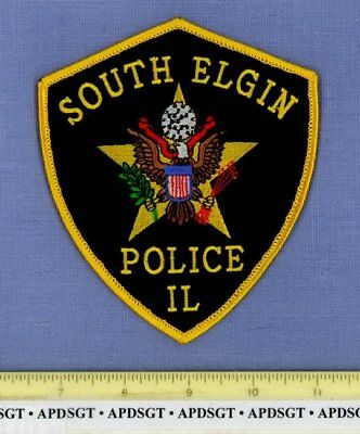 SOUTH ELGIN ILLINOIS Sheriff Police Patch PRESIDENTIAL EAGLE STAR