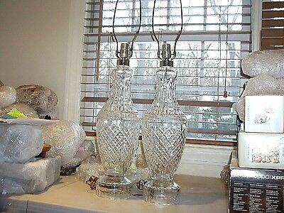 """Looking For A Gift-Here It Is - Vintage Waterford """"tramore""""-Pair 29"""" Table Lamps"""