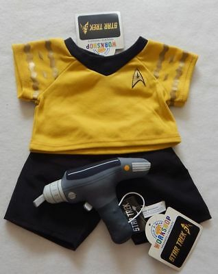 NEW Build A Bear Star Trek Yellow Uniform and Phaser NWT Rare