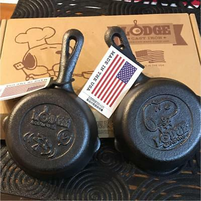 SNOOPY PEANUTS Plaza Limited Mini Mini Cast Iron Skillet with Box Free shipping