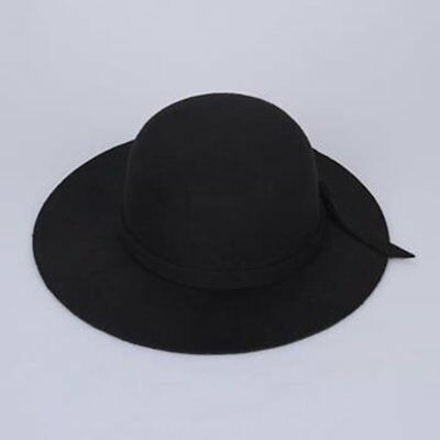 New Wide Brim Hat Retro Felt Bowler Fedora Floppy Cap Cloche Kids Girl Child CA