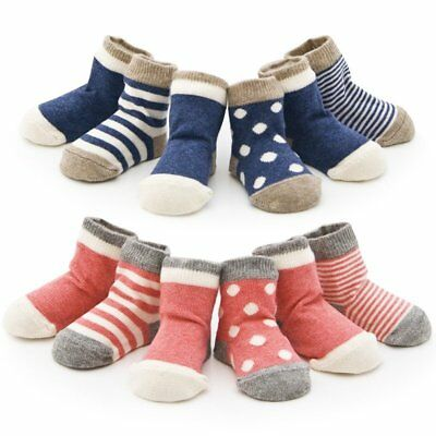 4 Pairs Cute Newborn Infant Baby Toddler Kids Cotton Ankle Socks 0-36 Months CA