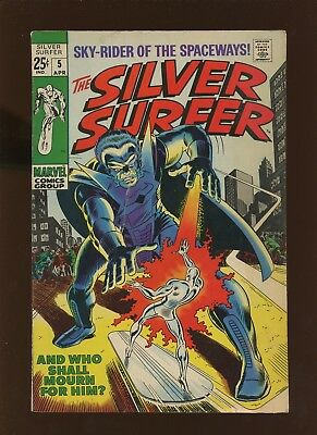 Silver Surfer 5 FN 6.0 *1 Book* 1969 Marvel! Fantastic Four! Stan Lee! Buscema!