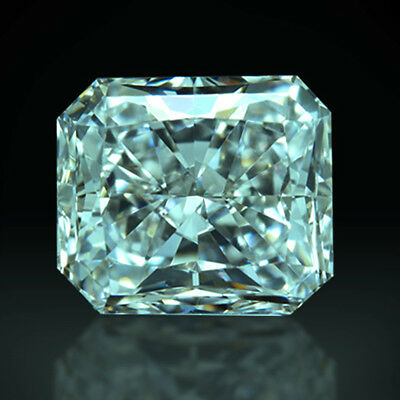 Loose Real Moissanite 1 CT to 5 CT Blue Color Radiant Diamond Cut, 4 Ring