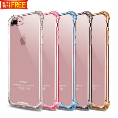 For iPhone 8 Plus 7 Plus Case Clear Defender Transparent Shockproof Hard Cover