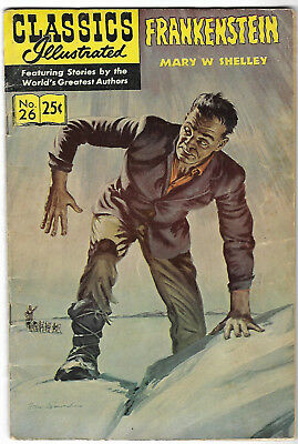 "1969. CLASSICS ILLUSTRATED #26. ""FRANKENSTEIN"". Mary Shelley. Cents copy."
