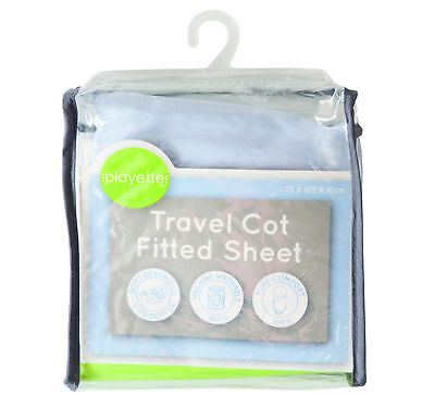 PlainTravel Cot Fitted Sheet - Blue -  Baby/Infant/Toddler
