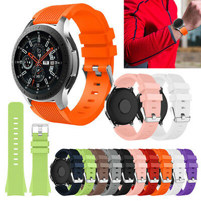 Silicone Watch Strap Band Bracelet Replacement For Samsung Galaxy Watch 46mm New