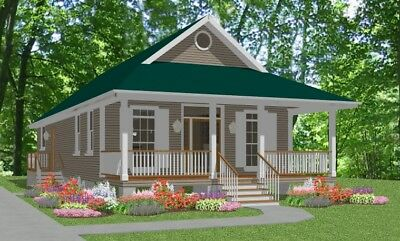 Custom Small House Home Building Plans 2 bed Cottage1170 sf--PDF FULL PERMIT SET