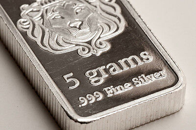 Scottsdale Silver Bullion Bar 5 Gram .999 Fine Silver