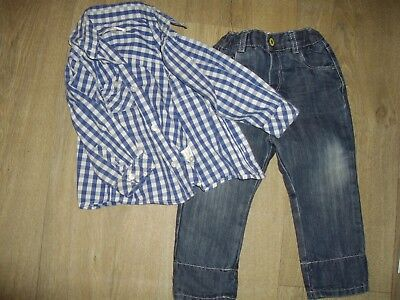 jeans, chemise ** OBAIBI.. ** taille 18 mois