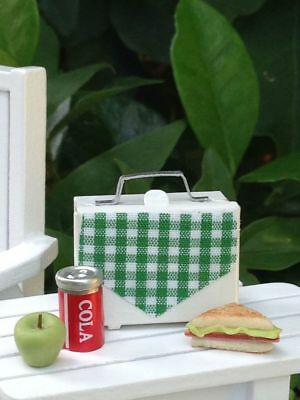 Miniature Dollhouse Fairy Garden Metal Lunch Box w/ Food - Buy 3 Save $5