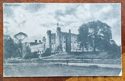 1904 Postcard Scone Palace. Valentines Moonlight Series to Belstead Rd, Ipswich