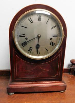 mahogany inlaid coil gong westminster bracket clock by elliot