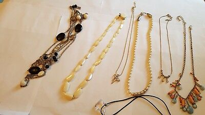 Vintage Modern Jewellery Mixed Job Lot Necklaces Mother Of Pearl beads