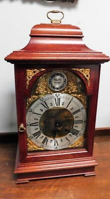 large triple chiming mahogany bracket clock