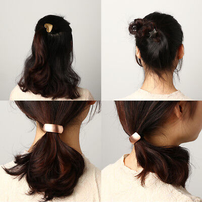 Star   Triangle  Metal Alloy Hair Band Girl Rope Elastic Ponytail Holder