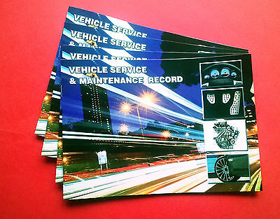Blank Vehicle-Service History Book & Maintenance Record Replacement
