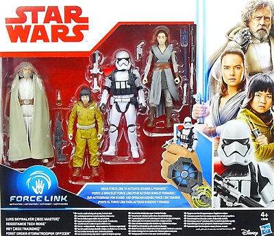 Star Wars The Last Jedi Collector Set (Rose, Rey, Trooper Officer, Luke) Hasbro