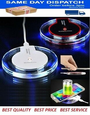 Fast Qi Wireless Charger Charging Pad+Receiver Kit For iPhone 5S 6 6S 7 8 Plus X